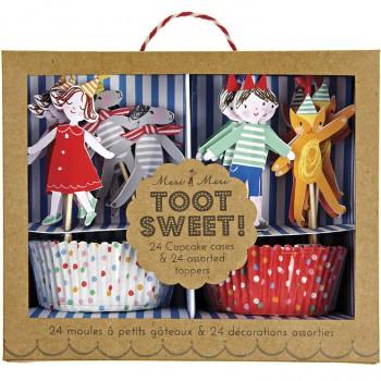 Kit 24 Caissettes et Déco à Cupcakes Fête Foraine Enfants
