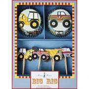 Kit 24 Caissettes et D�co � Cupcakes Chantier et Cie