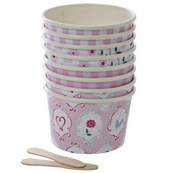 8 Pots à Glace Princesse