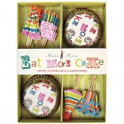 Kit 24 Caissettes et Déco à Cupcakes Eat More Cake