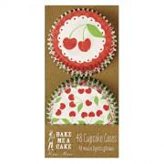 48 Caissettes à Cupcakes Cerise
