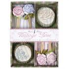 Kit 24 Caissettes et D�co � Cupcakes Jardin de roses