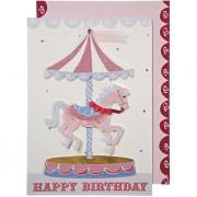 1 Carte d'Anniversaire Carrousel