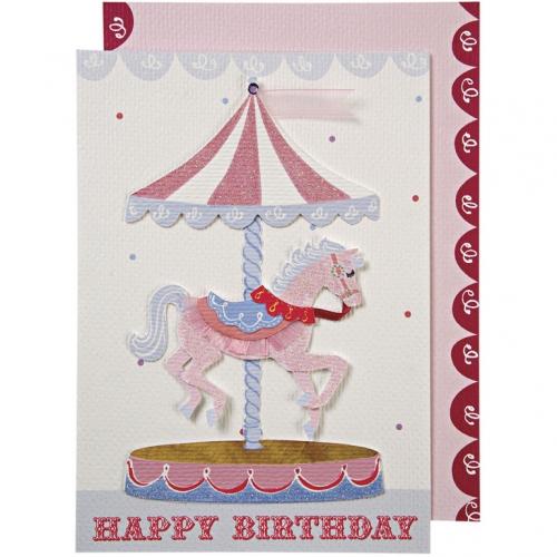 1 Carte d Anniversaire Carrousel
