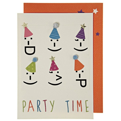 1 Carte d Anniversaire Party Faces