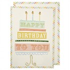1 Carte d'Anniversaire Happy Birthday To You