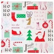20 Serviettes Jolly Père Noël