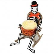 8 Présentoirs à Cupcakes Rocking chair Squelette