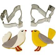 Set Emporte-pi�ces Oiseaux Amoureux