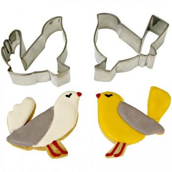 Set Emporte-pièces Oiseaux Amoureux