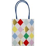 8 sacs cadeaux Arlequin