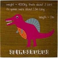 Contient : 1 x 20 Petites Serviettes Dino Friend