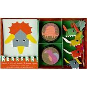 Kit 24 Caissettes et Déco à Cupcakes Dino Friend