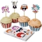Kit 24 Caissettes et D�co � Cupcakes Portraits Rigolos images:#0