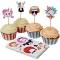 Kit 24 Caissettes et Déco à Cupcakes Portraits Rigolos images:#0