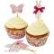 Kit 24 Caissettes et D�co � Cupcakes B�b� Rose images:#0