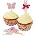 Kit 24 Caissettes et Déco à Cupcakes Bébé Rose. n°1
