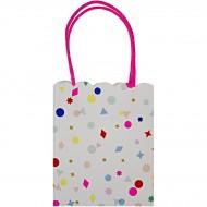 8 sacs cadeaux Confettis Party