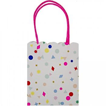 8 sacs cadeaux Confettis Folie