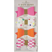 4 Noeuds Etiquette cadeau Rose/Or