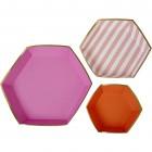 Set 3 plateaux Pink Fantaisie