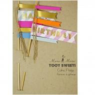 Double drapeau Happy Birthday pour gâteau