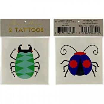 2 Tatouages Coccinelle/Scarabée