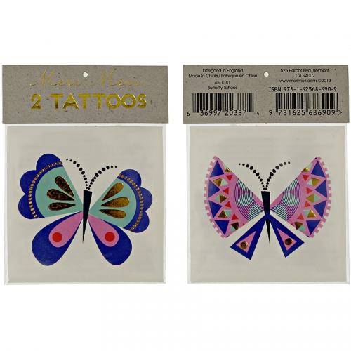 2 Tatouages Papillon