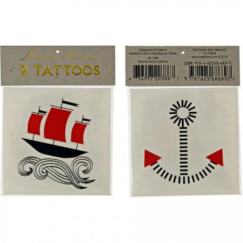 2 Tatouages Bateau/Ancre marine