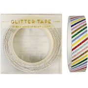 Ruban adhésif Rayures Multicolores Glitter