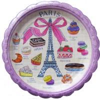 Contient : 1 x 8 Petites Assiettes Paris Gourmand