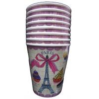 Contient : 1 x 8 Gobelets Paris Gourmand