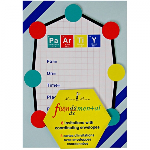 8 Invitations Funny Science