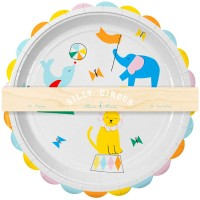 Contient : 1 x 12 Assiettes Silly Circus