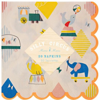 20 Serviettes Silly Circus