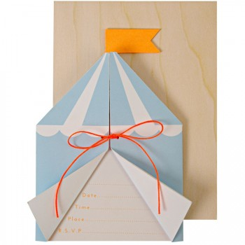 8 Invitations Silly Circus