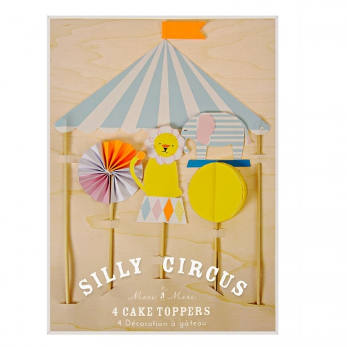 Décorations à gateau Silly Circus