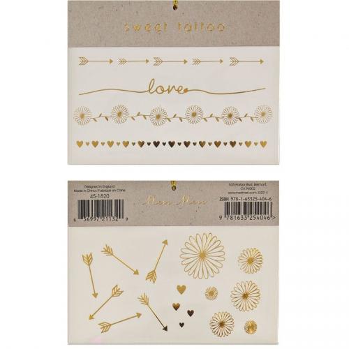Tatouages Bijoux Love Gold