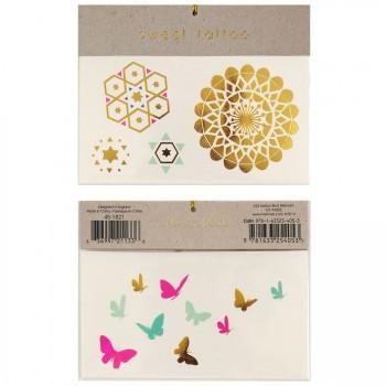 Tatouages Bijoux Fleurs orientales et Papillons