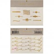 Tatouages Bagues et Bracelets Fleurs