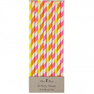 24 Pailles Ray�es Fluo Silly Circus