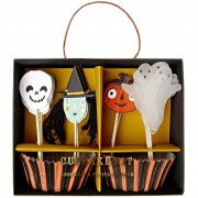 Kit 24 Caissettes et D�co Cupcakes Halloween Friends