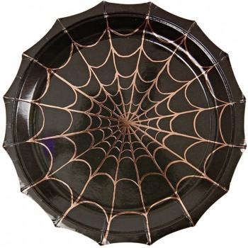 8 Assiettes Halloween Araignée