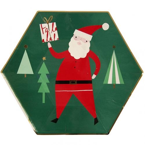 8 Assiettes Noël Fantaisie