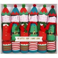 6 Crackers Elfes de No�l