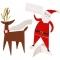 10 Marque-Places Père Noël et Renne images:#0