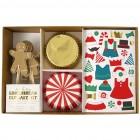 Kit 24 Caissettes Déco et Stickers Cupcakes Gingerbread