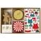 Kit 24 Caissettes Déco et Stickers Cupcakes Gingerbread images:#0