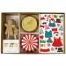 Kit 24 Caissettes D�co et Stickers Cupcakes Gingerbread. n�1