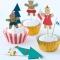 Kit 24 Caissettes Déco et Stickers Cupcakes Gingerbread images:#1